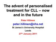 The advent of personalised treatment for CLL –now and in the future