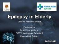 Epilepsy in Elderly - Department of Medicine
