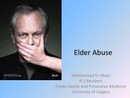 Elder Abuse - Department of Medicine