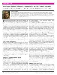 Hypertensive Disorders of Pregnancy - Department of Medicine