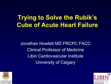Trying to Solve the Rubiks Cube of Acute Heart Failure