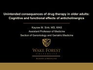 Unintended consequences of drug therapy in older adults: Cognitive ...