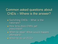 Common asked questions about ChEIs - Where is the Answer?