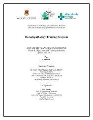 Hematopathology Training Program - Department of Medicine
