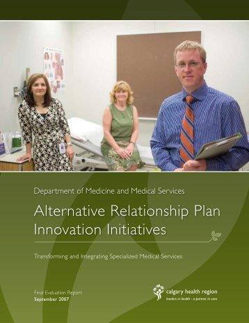 Alternative Relationship Plan Innovation Initiatives - Department of ...