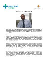 Announcement - Dr. Subrata Ghosh - Department of Medicine