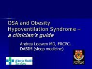OSA and Obesity Hypoventilation Syndrome - Department of Medicine