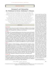 Donepezil and Memantine for Moderate-to-Severe Alzheimer's ...