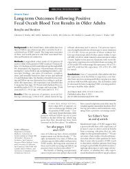 Long-term Outcomes Following Positive Fecal Occult Blood Test ...