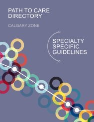 SPECIALTY SPECIFIC GUIDELINES - Department of Medicine