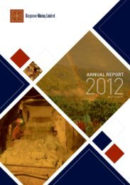 Annual Report 2012 - Kingsrose Mining