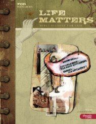 BSfL LifeMatters Learner Guide Fall 2009 - September 20 ... - LifeWay