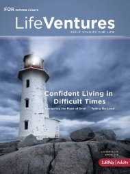Bible Studies for Life - Life Ventures Leader Guide ... - LifeWay