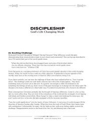 The Purpose of Discipleship (from Discipleship: God's Life ... - LifeWay