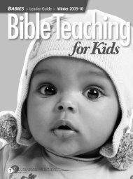 BTfK Babies Leader Guide Winter 2009-10 - LifeWay