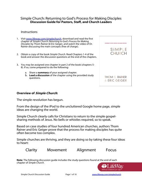 Simple Church Discussion Guide For Pastors Staff Amazon S3