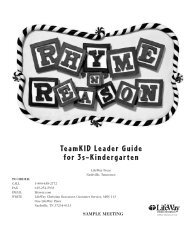 TeamKID Leader Guide for 3s–Kindergarten - LifeWay
