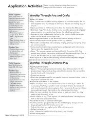 Worship KidStyle - Preschool Leader Guide Application ... - LifeWay