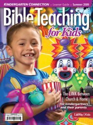 Kindergarten Connection Learner Guide Summer 2009 - LifeWay