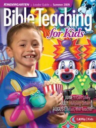 Bible Teaching for Kids - Kindergarten Leader Guide ... - LifeWay