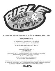 Bible Skills, Drills, and Thrills, Blue Cycle, Grades 4-6 ... - LifeWay