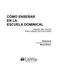 MANUAL DEL TALLER PARA LÍDERES DE ESCOLARES - LifeWay