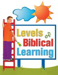 Levels of Biblical Learning - Woman's Missionary Union