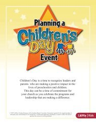 Children's Day is a time to recognize leaders and parents ... - LifeWay