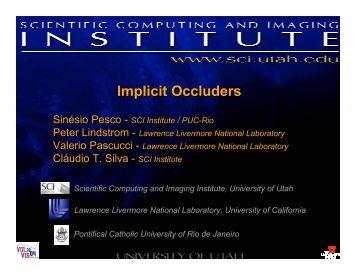 Implicit Occluders - Departamento de Matemática - PUC-Rio