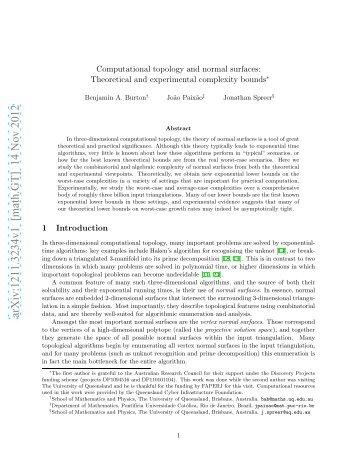 arXiv:1211.3234v1 [math.GT] 14 Nov 2012 - Departamento de ...