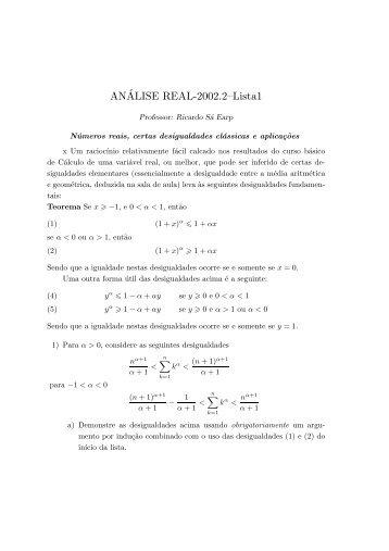 Ricardo Sa Earp - Departamento de Matemática - PUC-Rio