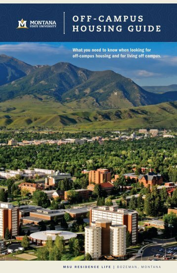 OFF-CAMPUS HOUSING GUIDE - Montana State University