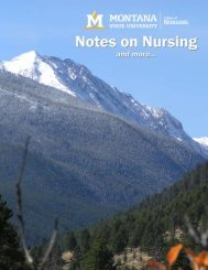 Notes on Nursing - Spring 2010 - Montana State University