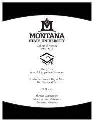 2010 Recognition Ceremony Program (PDF) - Montana State ...