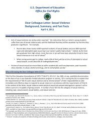 Dear Colleague Letter on Sexual Violence - Montana State University