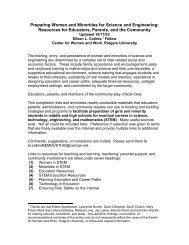 Preparing Women and Minorities for Science and Engineering ...