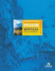 Undergraduate Application Form - Montana State University