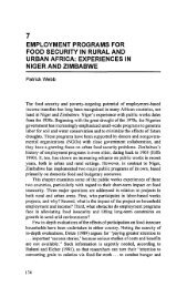 Employment Programs for Food Security in Rural and Urban Africa ...