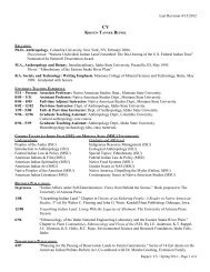 to see Dr. Ruppel's CV. - Montana State University