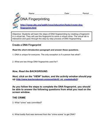 Dna Fingerprinting Teacher Package