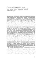Hans Fallada und die literarische Moderne