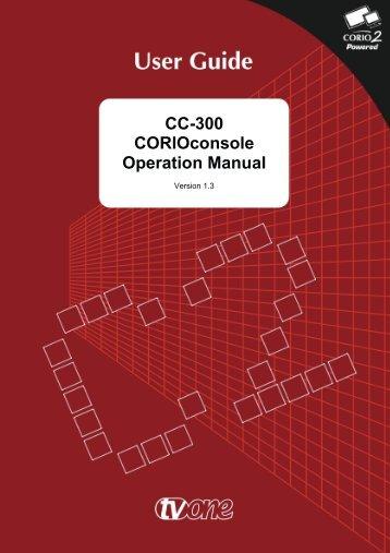 CC-300 CORIOconsole Operation Manual - Holdan.eu