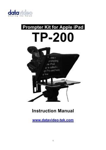 Datavideo Tp 300 Instruction Manual Creative Video