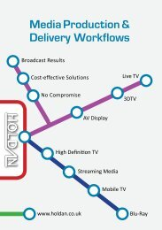 Media Production & Delivery Workflows - Holdan.eu
