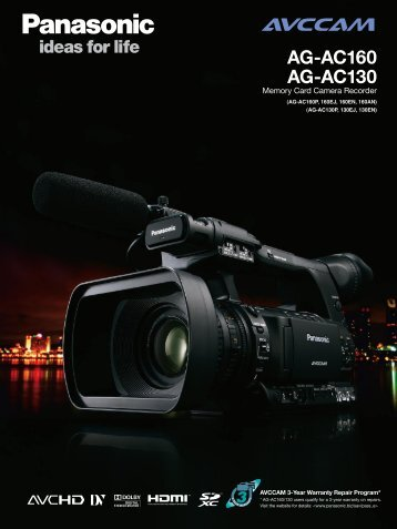 AG-AC160/AG-AC130 was updated. - Pro Av Panasonic