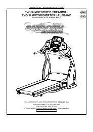 EVO 3i MOTORIZED TREADMILL EVO 3i ... - Smooth Fitness