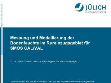 CAL/VAL Boden: Messung und Modellierung der ... - SMOS