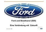 Ford und Bioethanol (E85) - Eine Verbindung mit Zukunft
