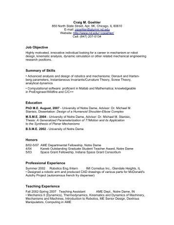 resume or a cv format
