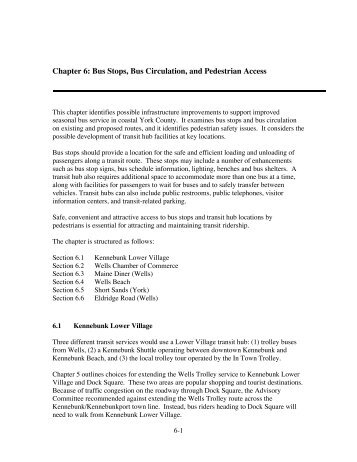Chapter 6: Bus Stops, Bus Circulation, and Pedestrian Access